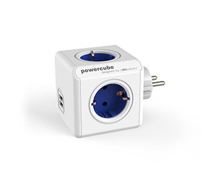 Πολύπριζο 4 Θέσεων Powercube με Υποδοχή 2 Θύρων USB ηλεκτρολογικός εξοπλισμός