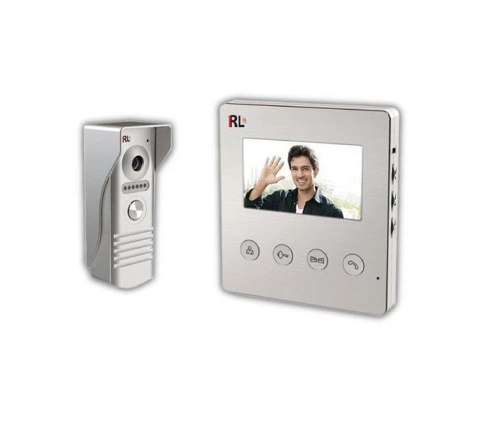 """Σετ Έγχρωμης Θυροτηλεόρασης Telco RL-B43F με Οθόνη Αφής 4.3"""" συστήματα ασφαλείας"""