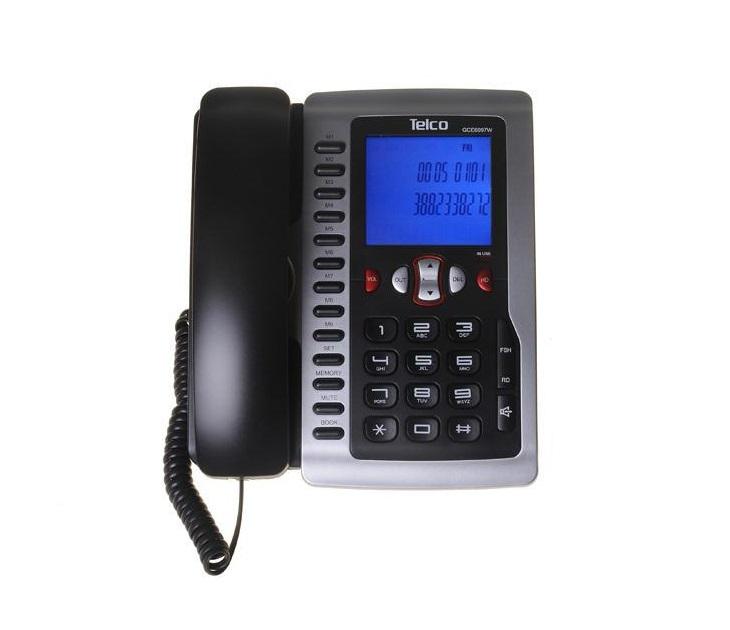 Ενσύρματο Επιτραπέζιο Τηλέφωνο Telco GCE-6097W τηλεφωνία
