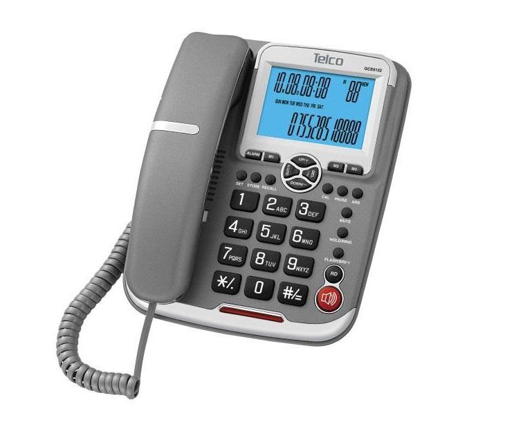 Ενσύρματο Επιτραπέζιο Τηλέφωνο Telco GCE-6122 (Γκρι) τηλεφωνία