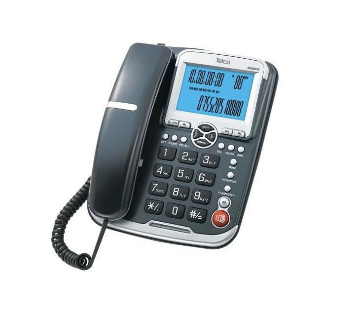 Ενσύρματο Επιτραπέζιο Τηλέφωνο Telco GCE-6122 (Μαύρο) τηλεφωνία