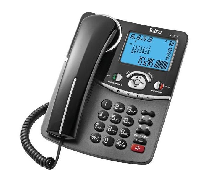 Ενσύρματο Επιτραπέζιο Τηλέφωνο Telco GCE-6216 (01.946)