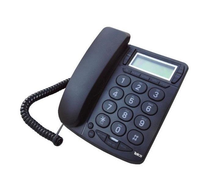 Ενσύρματο Επιτραπέζιο Τηλέφωνο Telco TM-PA036 με Αναγνώριση τηλεφωνία