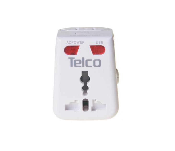 Παγκόσμιος Ταξιδιωτικός Αντάπτορας Telco ADD-04 με Θύρα USB ηλεκτρολογικός εξοπλισμός