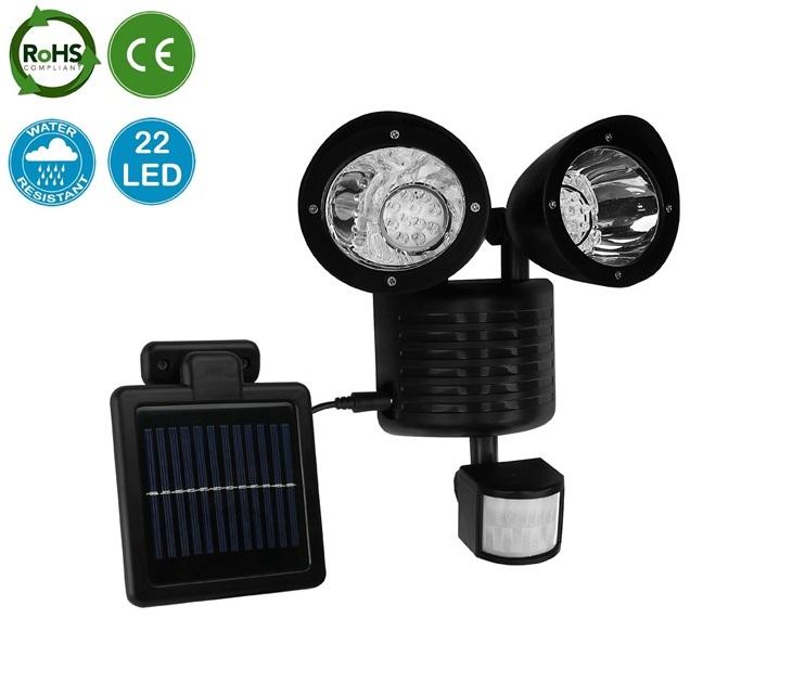 Διπλός Ηλιακός Προβολέας Ανιχνευτή Κίνησης Αυτόνομος(22 LED) OEM