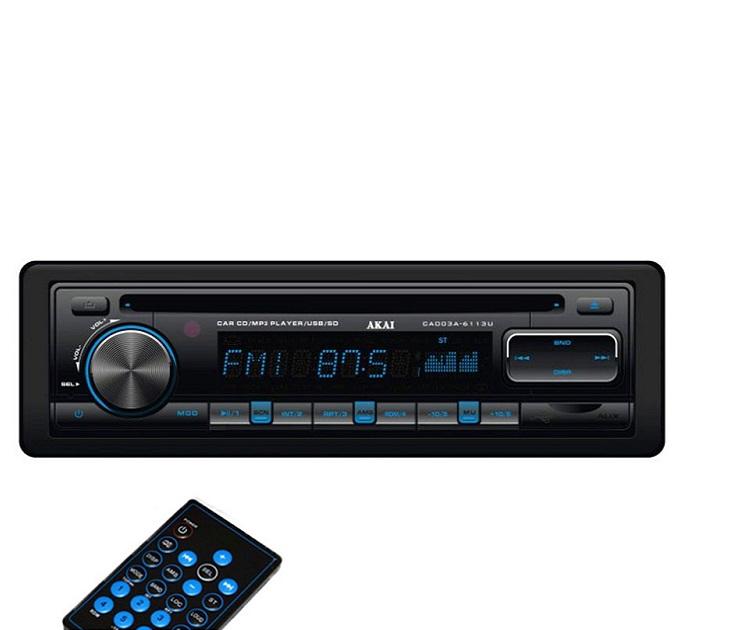 Ράδιο/CD/ΜP3 Akai με Kάρτας SD/USB & Xειριστήριο CA003A-6113U ήχος   εικόνα