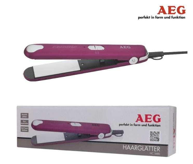 Συσκευή Ισιώματος Μαλλιών με Κεραμικές Πλάκες AEG HC 5680 LILA προσωπική περιποίηση