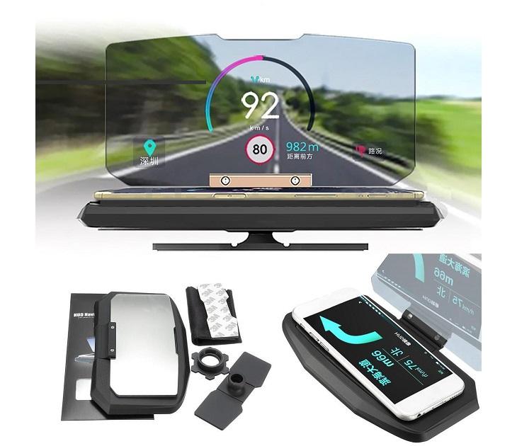 Βάση Κινητού/GPS για Ταμπλό Αυτοκινήτου με Αντανάκλαση Οθόνης car gadgets