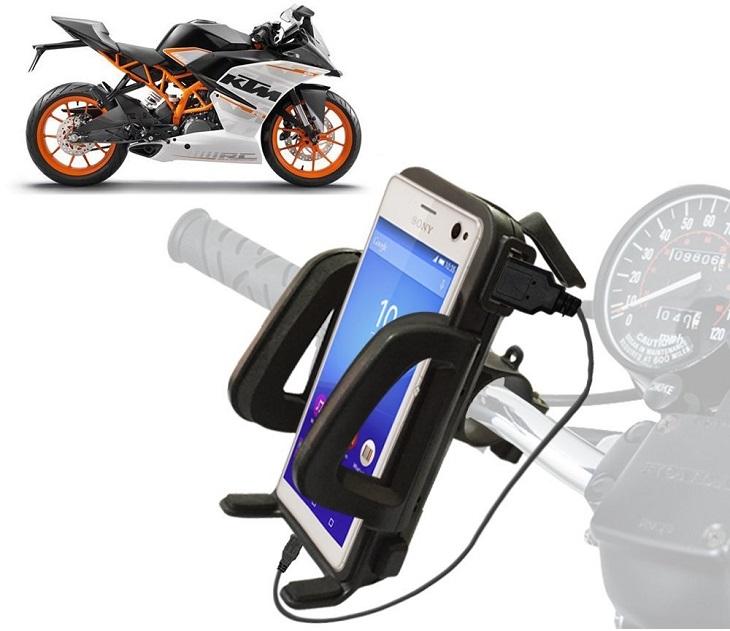 Βάση Στήριξης & Φορτιστής USB Μοτοσυκλέτας για Smartphone gadgets