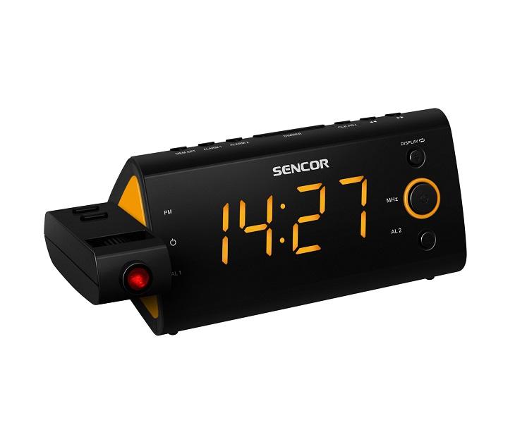 Ψηφιακό Ρολόι - Ραδιόφωνο Sencor SRC 330 OR (Πορτοκαλί Φως) ήχος   εικόνα