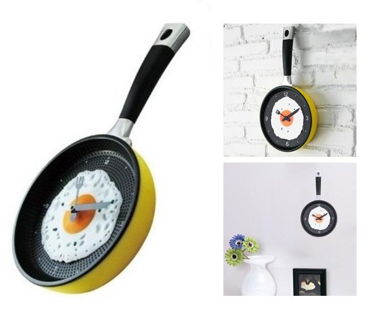 Ρολόι Τοίχου Κουζίνας σε Σχήμα Τηγάνι OEM είδη σπιτιού