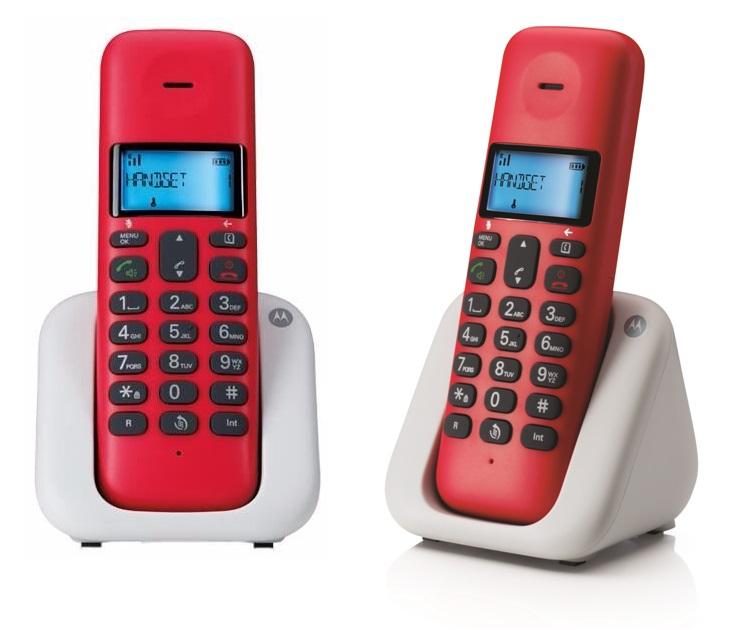 Ασύρματο Τηλέφωνο Dect Motorola T301 CHERRY τηλεφωνία