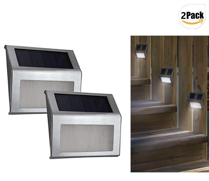 Σετ 2 Ηλιακά Φώτα Εξωτερικού Χώρου LED Για Σκάλες OEM