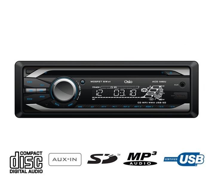 Ηχοσύστημα Αυτοκινήτου με CD & MP3/USB/SD/AUX IN Osio ACO-5490U ήχος   εικόνα