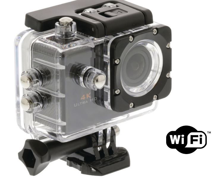 Action κάμερα Ultra HD 4K (12MP) με Αδιάβροχο Περίβλημα & Wi-Fi ήχος   εικόνα