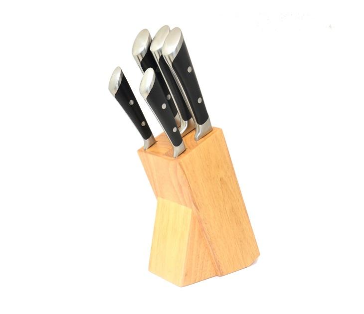 Σετ 5 Μαχαιριών με Ξύλινη Βάση Fissler Milano είδη σπιτιού