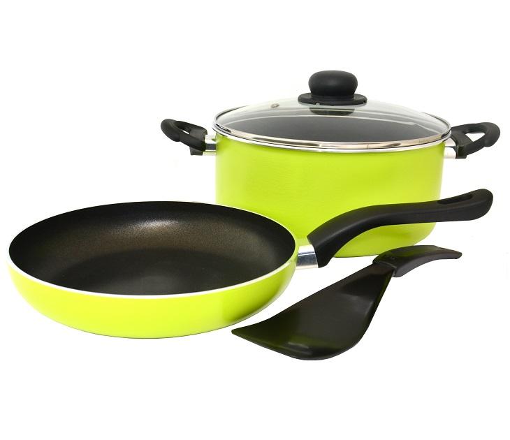 Σετ Μαγειρικών Σκευών 3 Τεμαχίων Fissler Nizza Green σκεύη μαγειρικής