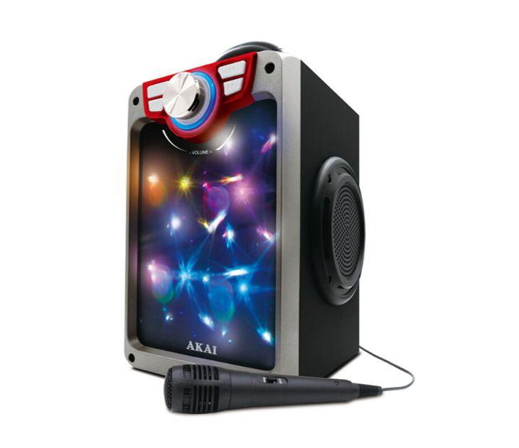 Φορητό Ηχείο Bluetooth Akai με Led & Μικρόφωνο CEU7300-BT (16W) audio   video gadgets