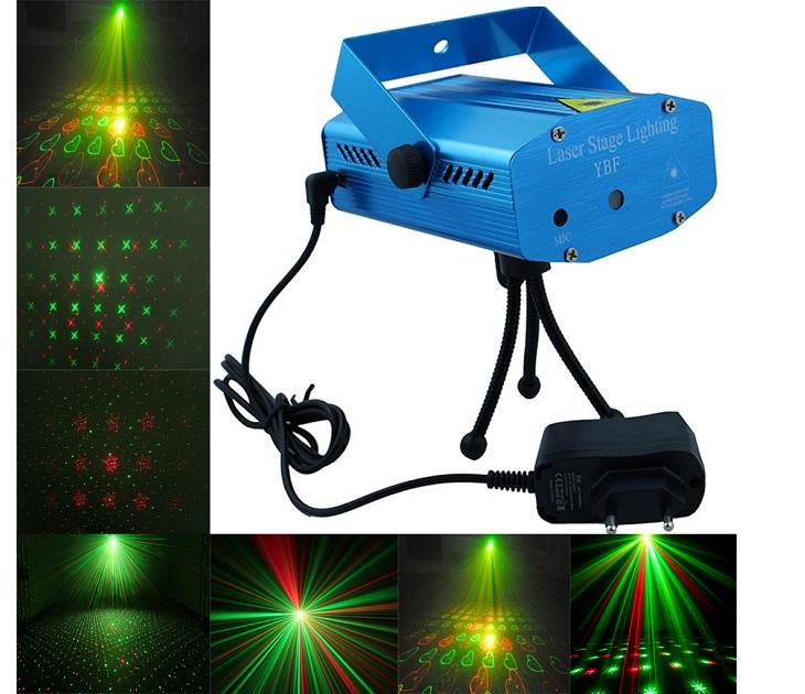 Mini ισχυρός Φωτορυθμικό Projector Laser 50mW YX-6D OEM gadgets