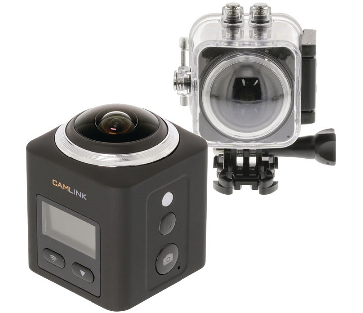 Action Κάμερα 360° Full HD2K, Aδιάβροχη & Wifi CL-AC360