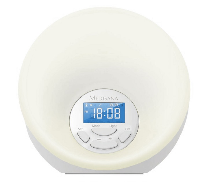 Ξυπνητήρι Medisana WL444 Wake Up Light με Ράδιο ή Μουσική ήχος   εικόνα