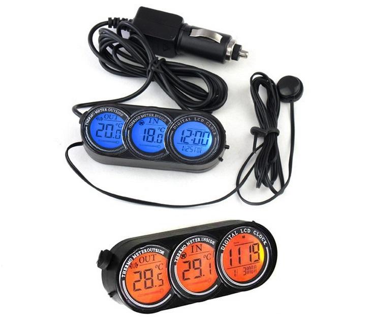Ψηφιακό Ρολόι & Θερμόμετρο αυτοκινήτου (in/out) 12/24V gadgets