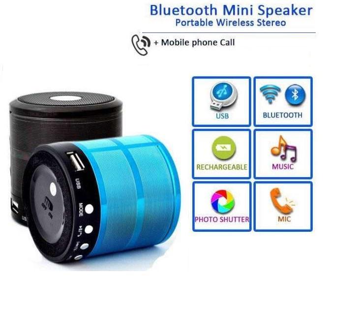 Ασύρματο Μίνι Bluetooth Ηχείο, Ανοιχτή Ακρόαση, Mp3 Player & FM