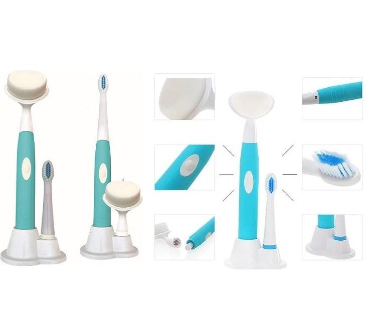 Ηλεκτρική Οδοντόβουρτσα & Συσκευή Καθαρισμού Προσώπου 2 Σε 1