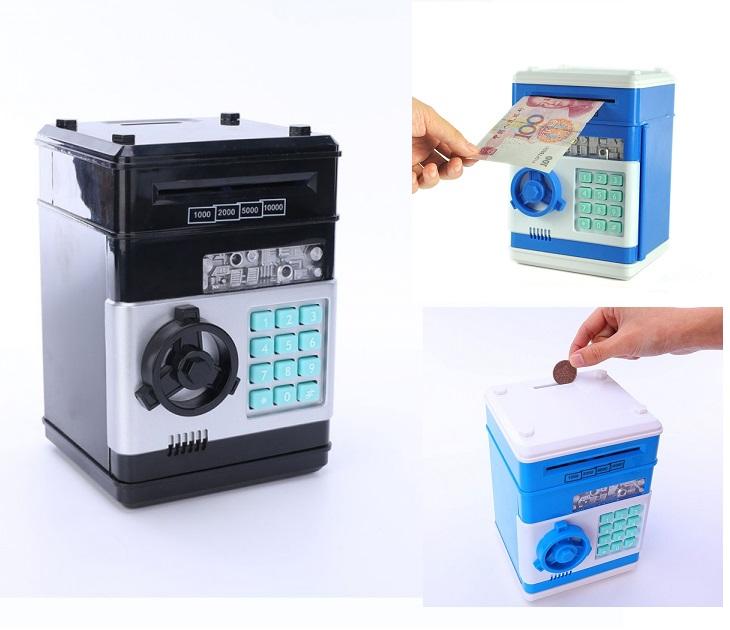 Ηλεκτρονικός Κουμπαράς Με Κωδικό Ασφαλείας Mini ATM