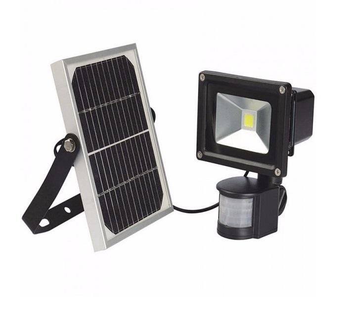 Ηλιακός Προβολέας LED Με Ανιχνευτή Κίνησης IP66 10W 900LUMEN