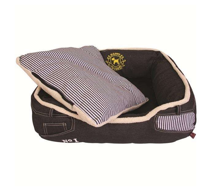 Κρεβάτι Σκύλου Pet Brands Washable Denim Striped (68x55x20εκ) κρεβάτια σκύλου