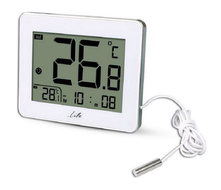 Ψηφιακό Θερμόμετρο Εσωτερικού & Εξωτερικού Χώρου Life WES-202 είδη σπιτιού