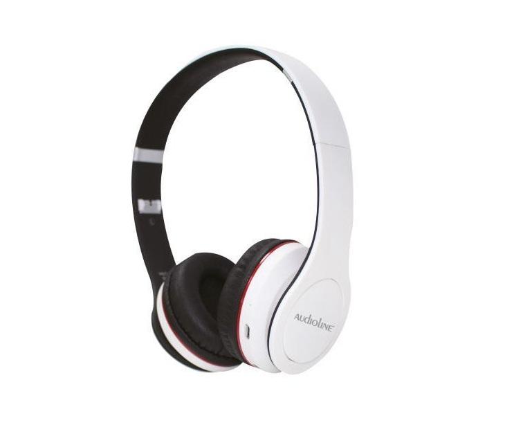 Ακουστικά On Ear Bluetooth Touch Audioline BΤ508 (Λευκά) ήχος   εικόνα