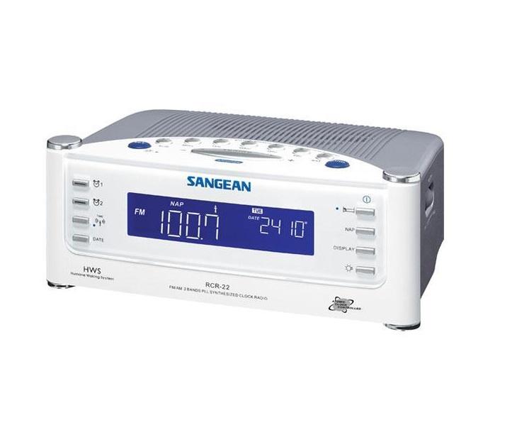 Ψηφιακό Ραδιορολόι FM Ρεύματος Sangean RCR-2 (Λευκό) ήχος   εικόνα