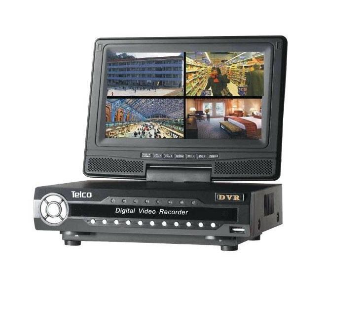 Καταγραφικό με Ενσωματομένο Μόνιτορ 8 Καναλιών Telco PA8908XT συστήματα ασφαλείας