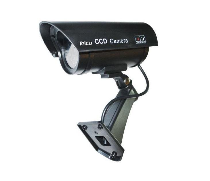 Dummy Κάμερα Telco RL-027 με Led Flashlight (Μαύρη) συστήματα ασφαλείας