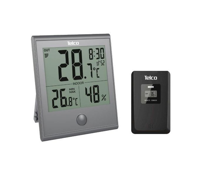 Ρολόι Μετεωρολογικός Σταθμός In&Out Telco Ε0322Τ (Γκρι) θερμόμετρα χώρου