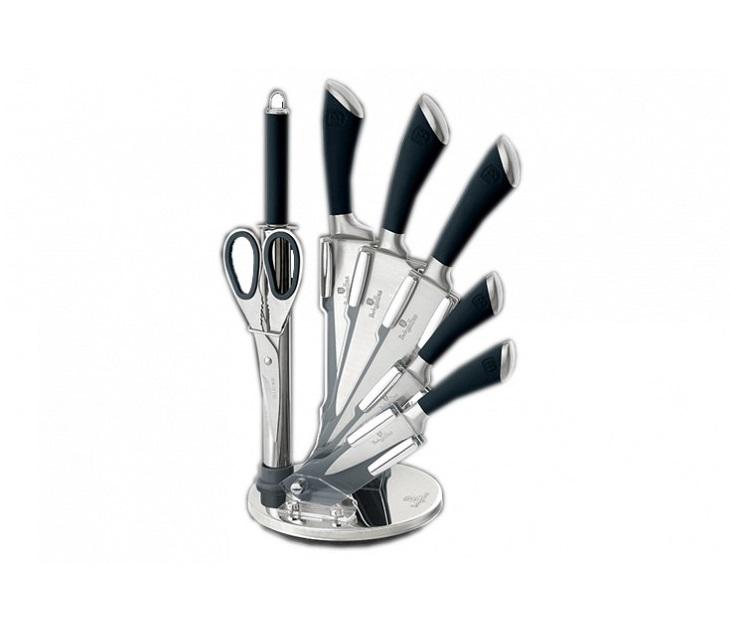 Σετ Μαχαιριών 8 Τεμ & Ψαλίδι & Ακονιστή Berlinger Haus BH-2042 μαχαίρια κουζίνας