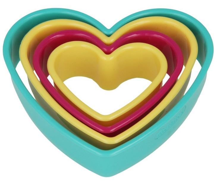 Σετ 4 Κουπ Πατ Καρδιά Πολύχρωμα Metaltex τσέρκια   κουπ πατ