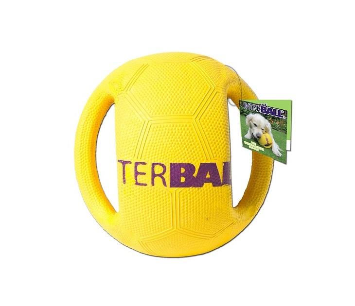 Μπάλα Σκληρή από Ενισχυμένο Καουτσούκ InterBall παιχνίδια σκύλου