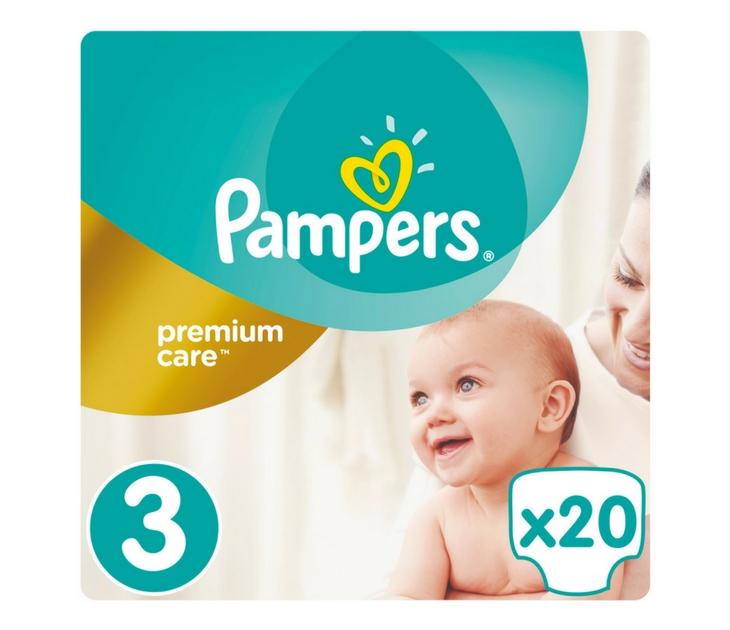 Πάνες Pampers Premium Care No 3 (Midi) 5-9 kg, 20 τμχ premium care