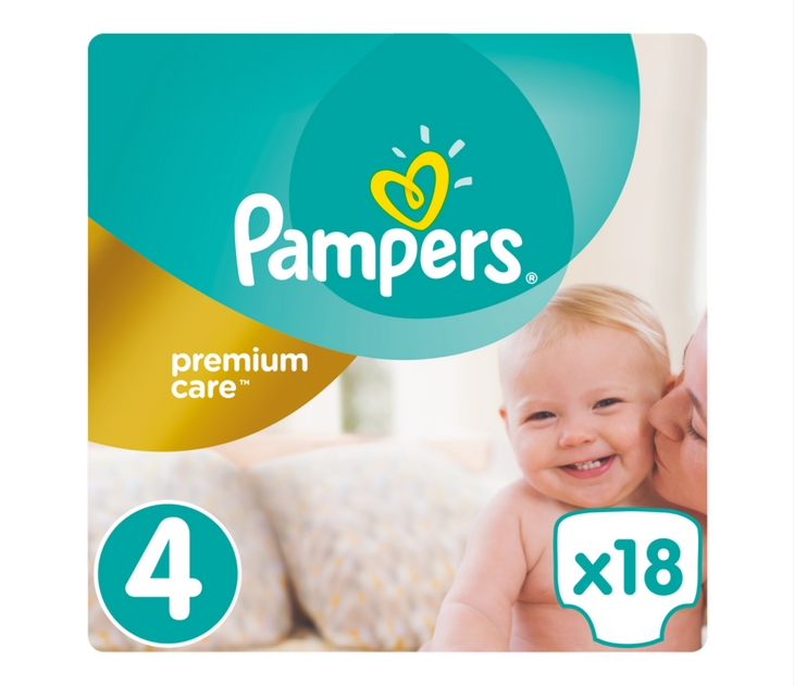 Πάνες Pampers Premium Care No 4 (Maxi) 8-14 kg, 18 τμχ premium care