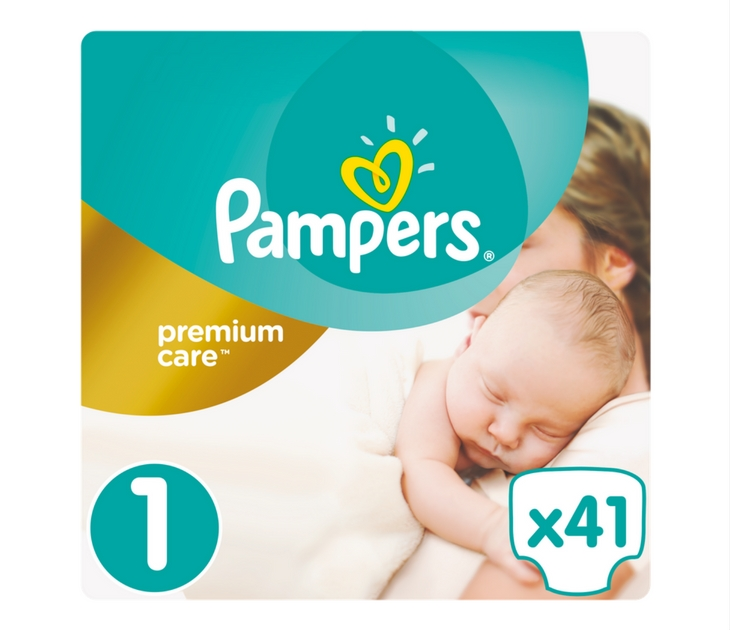Πάνες Pampers Premium Care No 1 (Newborn) 2-5 kg, 41 τμχ premium care