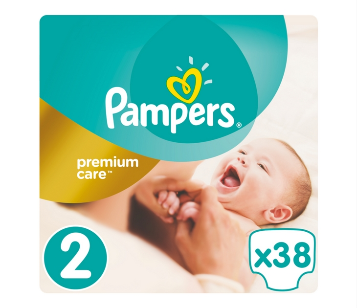Πάνες Pampers Premium Care No 2 (Mini) 3-6 kg, 38 τμχ premium care