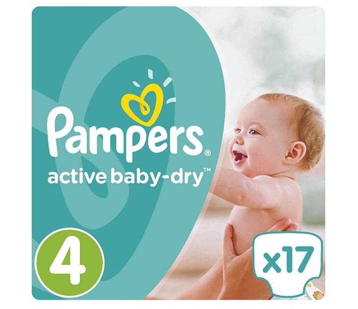 Πάνες Pampers Active Baby-Dry No 4 (Maxi) 8-14Kg, 17 τμχ active baby dry