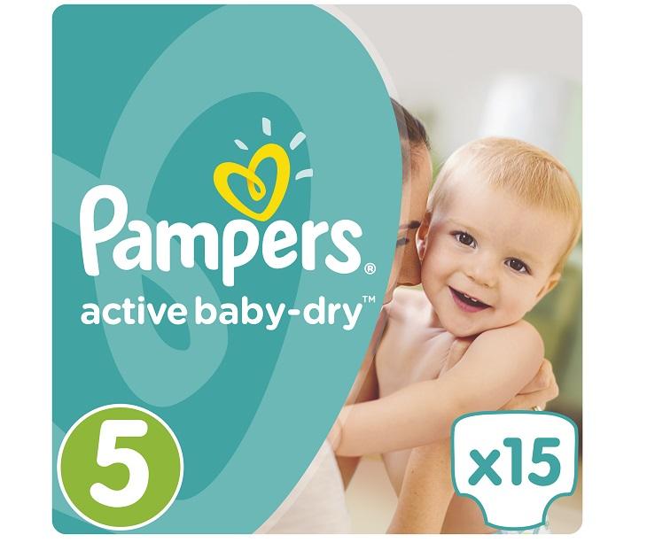 Πάνες Pampers Active Baby-Dry No 5 (Junior) 11-18Kg, 15 τμχ active baby dry