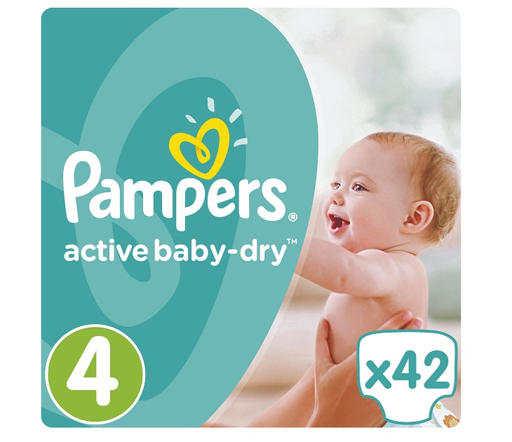 Πάνες Pampers Active Baby-Dry No 4 (Maxi) 8-14Kg, 42 τμχ active baby dry