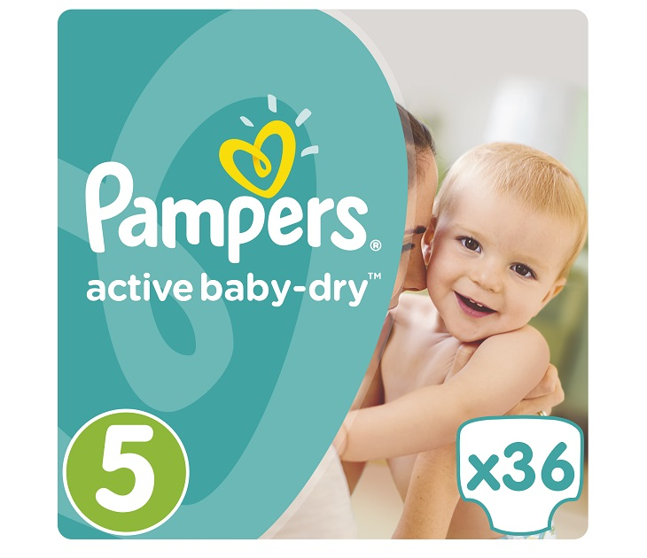 Πάνες Pampers Active Baby-Dry No 5 (Junior) 11-18Kg, 36 τμχ active baby dry