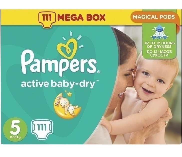 Pampers Active Baby Dry MegaPack No5(11-18Kg)111τμχ active baby dry