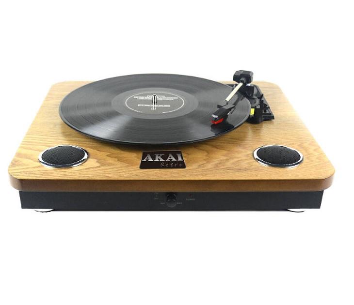 Ξύλινο Πικαπ με Ενσωματωμένα Ηχεία AKAI ATT-09 ήχος   εικόνα